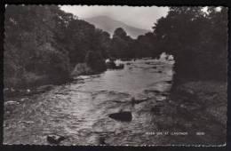 River Usk At Llagynidr ~ B&W RP ~ 1966 - Montgomeryshire