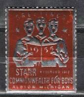 Label, Cinderella  Greetings 1955, Albion ,Michigan  USA ** - United States