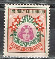 Label, Cinderella  The Holy Childhood, Seasons Greetings  * - United States