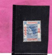 HONG KONG 1954 QUEEN ELIZABETH II REGINA ELISABETTA 1.30€ DOLLAR USATO USED OBLITERE' - Usati