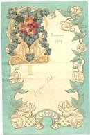 Lettre De Voeux Avec Découpis 1937 - Bressoux  (b99) - Flowers