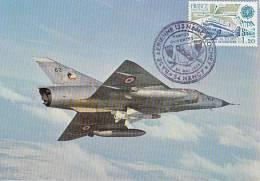 "Aviation : Avion De Combat Polyvalent "" Mirage III C "" - Journée Portes Ouvertes BA 133 Nancy-Ochey - CPM Neuve - 1946-....: Moderne"