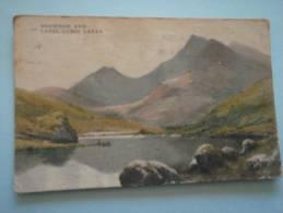 22372 PC: WALES: CAERNARFONSHIRE: Snowdon And Capel Curig Lakes. - Caernarvonshire