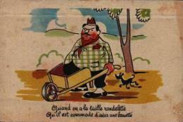 Humour 37 Gros Ventre Brouette - Humour