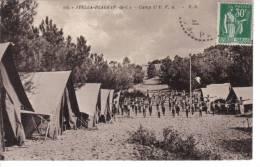 STELLA Plage (62) - CPA - Camp De L'UFA ... Tente, Camping - France