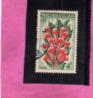 MADAGASCAR MALGACHE 1957 FLEUR GIROFLE FLEURS - FLOWER FLOWERS FIORI GAROFANO FIORE USED - Non Classificati