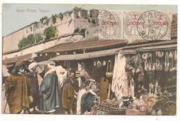 Lettre - MAROC - TANGER - Càd S>/Bande De 3 Du TP N°20 - 1912 - Marocco (1891-1956)