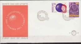 Netherlands, Nederland, 1992, Europa, CEPT, Explorer, Columb, E 295, FDC - Europa-CEPT