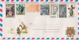= Pli Philatélique 7 Timbres Non Oblitérés Avec Carte à L'intérieur - 1931-Hoy: 2ª República - ... Juan Carlos I