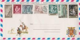 = Pli Philatélique 7 Timbres Non Oblitérés Avec Carte à L'intérieur - 1971-80 Covers