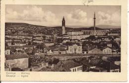 Skoplje, Izgled, Panorama,postcard, Black And White, Used 1933 For Italy, Small Format, - Macedonia