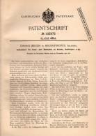 Original Patentschrift - J. Berger In Bischofshofen , Salzburg , 1901 , Feuer- Und Siederohre An Kesseln , Heizung !!! - Historische Dokumente