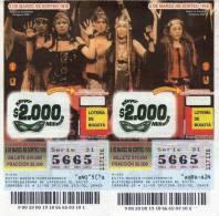 Lote 712, Colombia, Loteria, Lottery, Teatro La Candelaria - Billetes De Lotería