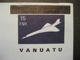VANUATU Concorde Overprinted NEW HEBRIDES CONDOMINIUM DES NOUVELLES HEBRIDES Aerogramme - Concorde