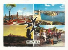 Cp, Malte, Multi-Vues, Voyagée 1970 - Malte