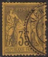 France N° 93 Obl. Cachet à Date à Cercle Pointillé De MERSINA ( TURQUIE ) - 1876-1898 Sage (Type II)