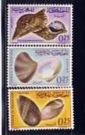 MOROCCO. 1965,  # 123-4-5, SHELLS    M HINGED - Maroc (1956-...)