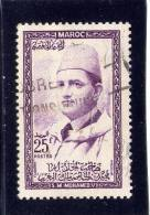 MOROCCO. 1957, USED # 4,  SULTAN MOHAMMED - Maroc (1956-...)