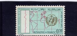 MOROCCO. 1964,  # 103, 4 Th WORLD METEOROLOGICAL DAY   MH - Maroc (1956-...)