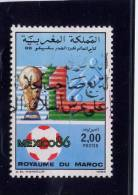 MOROCCO. 1985, USED # 611, BUTTERFLIES: COLOTIS EVAGORE   USED,  DEFAULT LOWER  RIGHT CORNER - Maroc (1956-...)