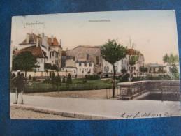CPA...DIEDENHOFEN..THIONVILLE.MOSELPROMENADE..1908 ..PETITE  CORNE EN BAS.   ADRESSEE A VILLEGONGIS PAR LEVROUX - Thionville