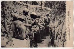 MILITARIA LA GRANDE GUERRE 1914 1916 - DANS LES TRANCHEES LA SOUPE AUX 1ERE LIGNES - PROSNES 51 MARNE