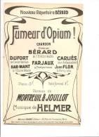 Fumeur D'opium! Bérard - Partitions Musicales Anciennes