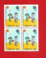 ITALIA REPUBBLICA - QUARTINA NUOVA MNH - 1983 - GIORNATA DEL FRANCOBOLLO - £ 300 - 1981-90: Mint/hinged