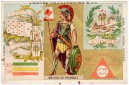 Chromo Amédée Charpentier & Cie (machines à Coudre) / Maison Du Triangle, Cartes à Jouer - Trade Cards