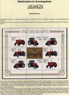 Traktoren-Fabrik 1997 Weißrußland 242/5 9-KB ** 6€ Traktor-Typen Foglietti Bloc Engineering Tractor Sheetlet Bf Belarus - Bielorussia