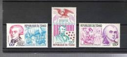 Tschad  ** ,  789 - 91 , 200 Jahre USA - Tsjaad (1960-...)