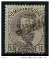 AMADEO I, 1872.  10 CTS VIOLETA, USADO, BONITO - 1872-73 Reino: Amadeo I
