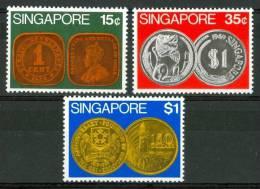 1972 Singapore Monete Sul Francobollo Coin On Stamps Monnaie Sur Timbres Set MNH** Sin79 - Singapour (1959-...)