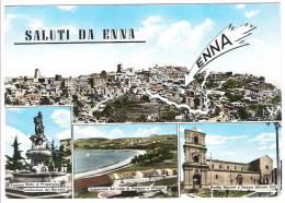 SALUTI DA ENNA 4 VEDUTE 1961 - Enna