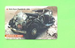 JERSEY - Magnetic Phonecard As Scan/Motor Car - Ver. Königreich