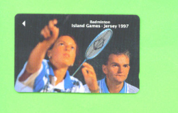 JERSEY - Magnetic Phonecard As Scan/Badminton - Ver. Königreich