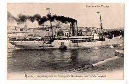 """SOUVENIR DE VOYAGE : """"Russie - Paquebot Poste Des Transports Maritimes, Courrier De L' Algérie"""" - Steamers"""