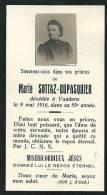 Image-souvenir De Marie Sottaz-Dupasquier, Décédée à Vuadens En 1916 - Images Religieuses