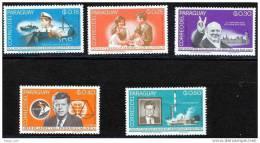 Paraguay Churchill Kennedy 8 PERF Reg & Airmail Space John Glenn LB Johnson MNH See 2 Scans - Kennedy (John F.)