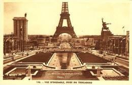 Exhibitions  Exposition Internationale   PARIS  1937.   Vue D'ensemble , Prise Du Trocadero - Exhibitions