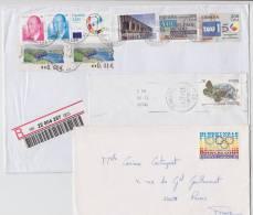 = Lot De 3 Enveloppes Avec 10 Timbres Espagne, Oblitérations 1990 à 2006, Dont 1 Recommandé - 1931-Heute: 2. Rep. - ... Juan Carlos I