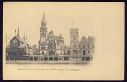 Exhibitions  Exposition Internationale   PARIS  1900.   Pavillons De La  Norvege , Allemagne, Espagne - Exhibitions