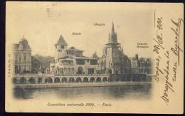 Exhibitions  Exposition Internationale   PARIS  1900.   Pavillons De La  Bosnie , Hongrie, Grande Bretagne - Exhibitions