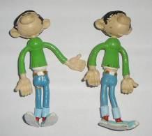 2 FIGURINES GASTON LAGAFFE FRANQUIN QUICK - Figurillas