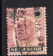 Selangor Malaya 1895-99 Tiger 50c Used - Selangor