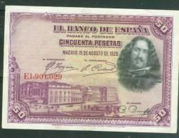 Billet De 50 Pesetas , Qualité  5/ 10 , Traces De Plis , Emission 1928 - Ai7201 - [ 1] …-1931 : Eerste Biljeten (Banco De España)