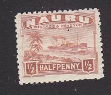 Nauru, Scott #17, Mint Hinged, Freighter, Issued 1924 - Nauru
