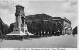 """Cartolina  D´epoca    """" REGGIO EMILIA - Monumento Ai Caduti E Teatro Municipale """" - Reggio Nell'Emilia"""