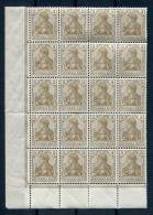 Germany  1915 Block Of 20 3PF MNH - Unused Stamps