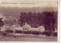 Villeneuve Sur Bellot     Mairie Et Groupe Scolaire - France